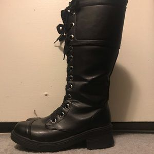 Hot Topic Knee High Combat Boots